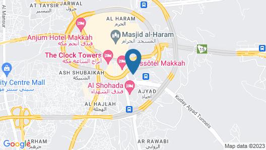 Elaf Ajyad Hotel Map