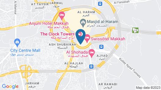 Fairmont Makkah Clock Royal Tower Map