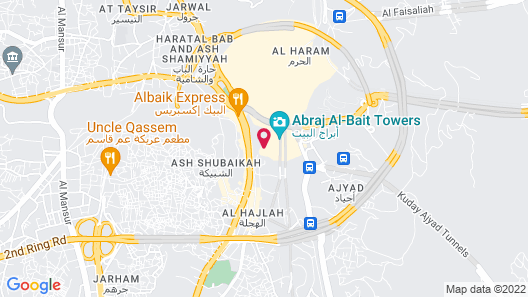 Makkah Clock Royal Tower - A Fairmont Hotel Map