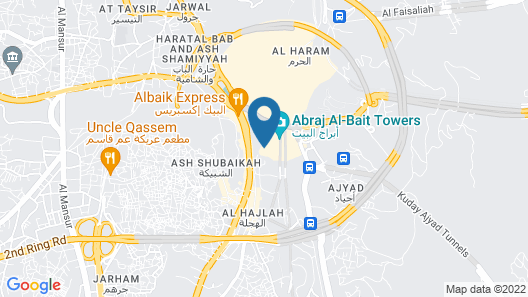 Makkah Clock Royal Tower - A Fairmont Hotel Map