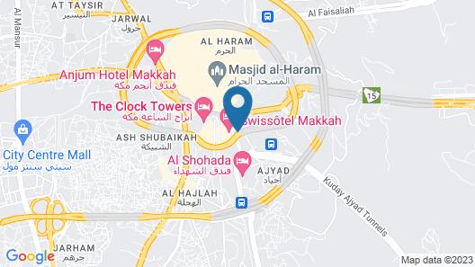 Dar Al Eiman Ajyad Hotel Map