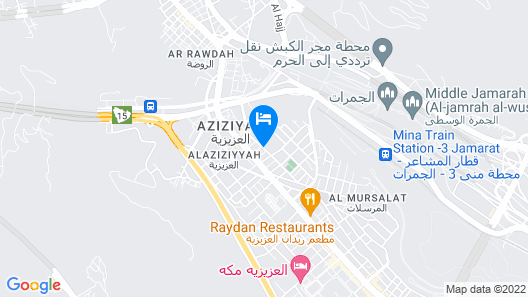 Makarem Mina Hotel Map