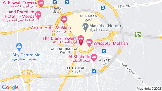 Hotel Pullman ZamZam Makkah Map