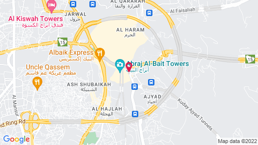 Dar Al Eiman Royal Hotel Map