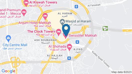 Dar Al Eiman Royal Hotel Map