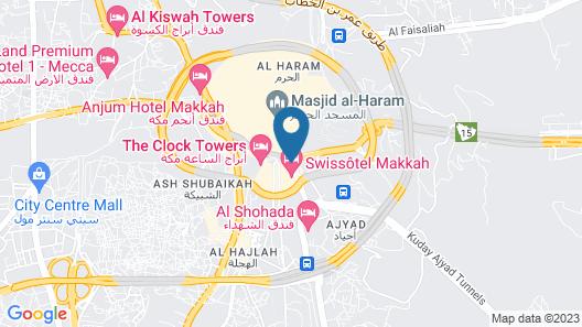 Al Ghufran Safwah Hotel Makkah Map