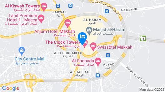 Makkah Hotel Map