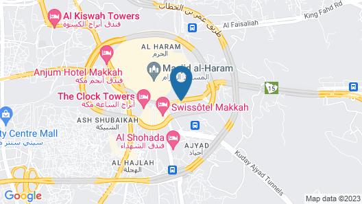 Le Meridien Makkah Map