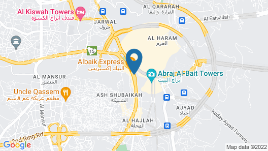 Jabal Omar Hyatt Regency Makkah Map