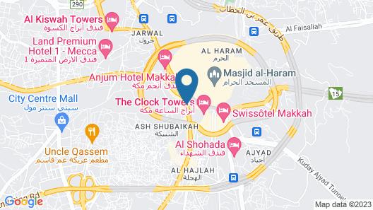 Intercontinental Dar Al Tawhid Makkah Map