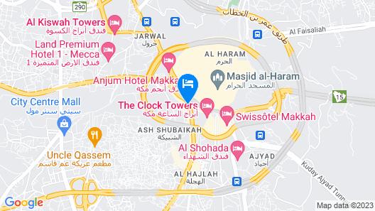 Hilton Suites Makkah Map