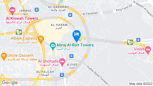 Dar Al Eiman Al Andalus Hotel Map
