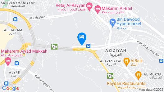 Elaf Bakkah Hotel Map