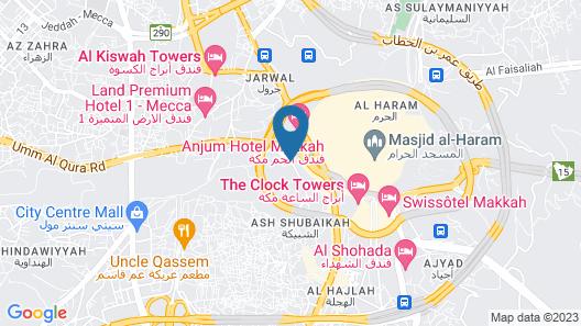 Hilton Makkah Convention Hotel Map