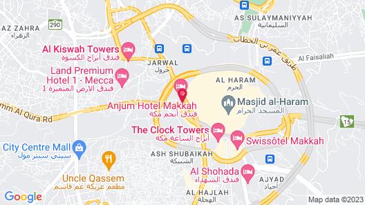 Anjum Hotel Makkah Map