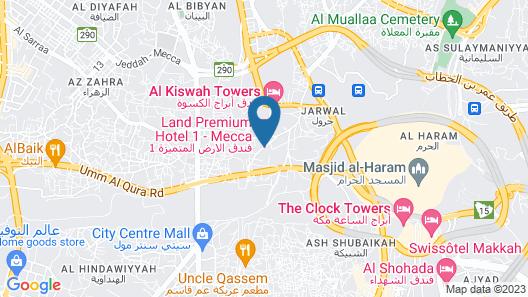 Land Premium Hotel 1 Makkah Map
