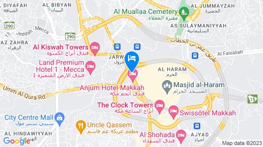 Sheraton Makkah Jabal Al Kaaba Hotel Map