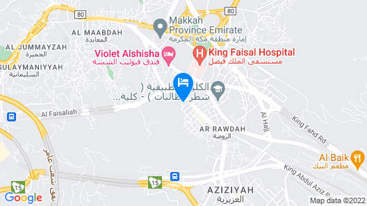 M Hotel Al Dana Makkah by Millennium Map