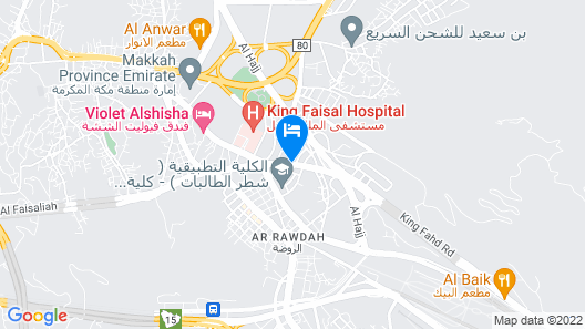 Al Faisal Hotel 1 Map