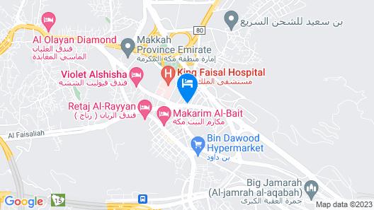 Manarate Al Sharif Hotel Map