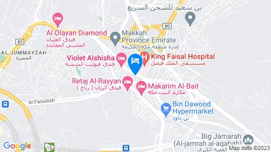 Violet Al Shisha Hotel Map