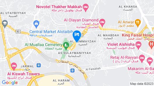 Burj Al Waqar Hotel Map