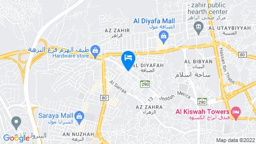 Al Azhar Palace Hotel Map