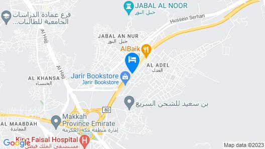 Al Adl Jewel Hotel Map