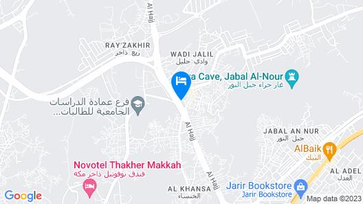 Al Rawhanya Hotel Map