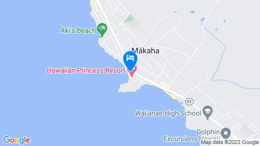 Cozy Beach Front Condo in Makaha Map