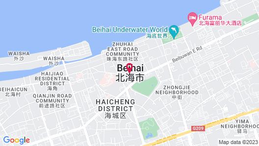Crowne Plaza Beihai Silver Beach Map