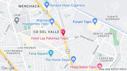 Hotel Las Palomas Map