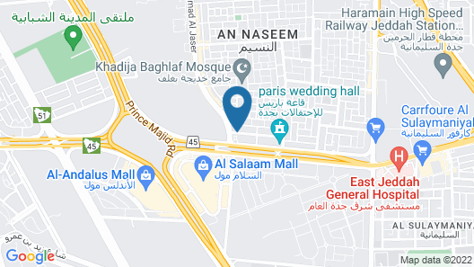 Zahrat Al Naseem Furnished Apartments Map