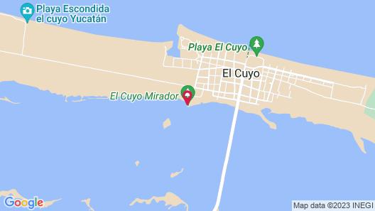 Casa Mate Frontbeach Cabanas el Cuyo Map