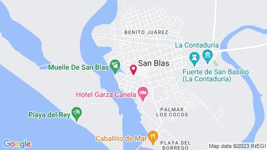 Hotel Hacienda Flamingos Map