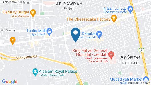 Movenpick Hotel Tahlia Jeddah Map