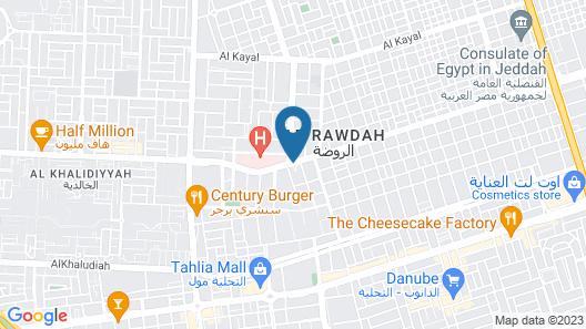 Q Suites Jeddah By EWA Map