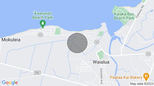 Waialua Beach House Map