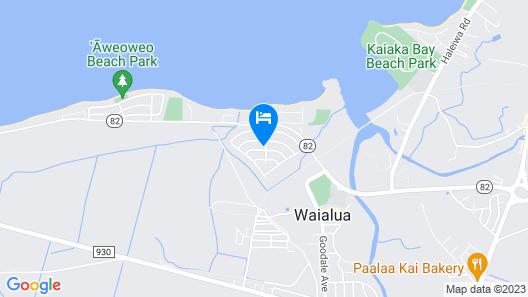 Spacious Waialua Studio Map