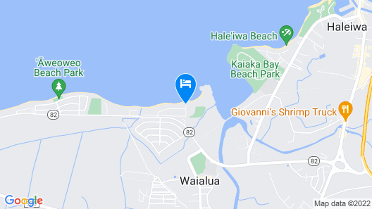 Waialua Honu Hale - Spectacular Beachfront Home! 30 Day Rental Map