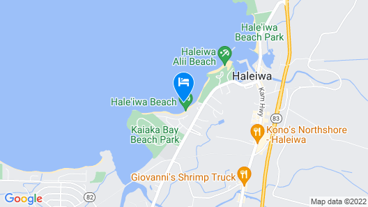 Quaint Haleiwa House - Close to Everything Beach, Shops, Restaurants Map