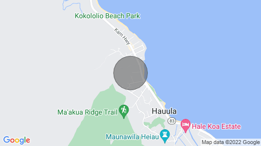 Hauula Getaway Studio – AC, Near Beach, Near PCC Map