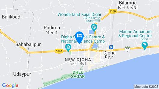 Goroomgo Swapnodeep Residency Digha Map