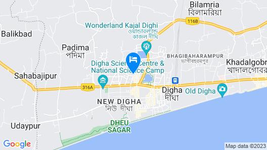 Goroomgo Ayush International Digha Map