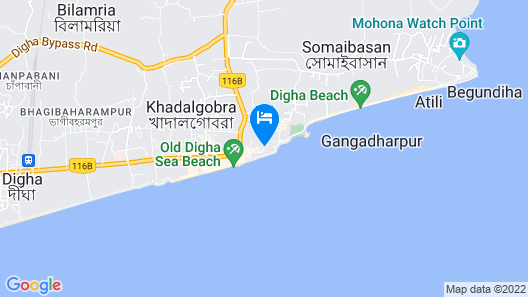 Hotel Sea Hawk Digha Map