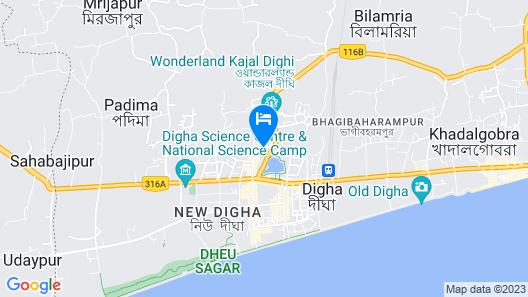 Goroomgo Prateek Residency Digha Map