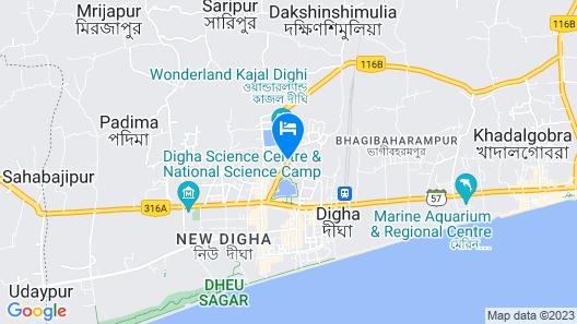 Goroomgo Sandhya Guest House Digha Map