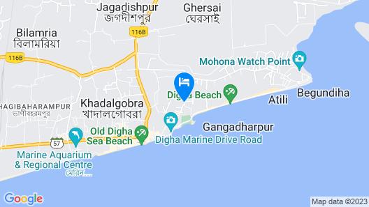 Goroomgo Sea Sand Digha Map