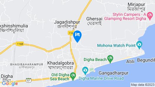 Goroomgo Bidisha 2 Digha Map