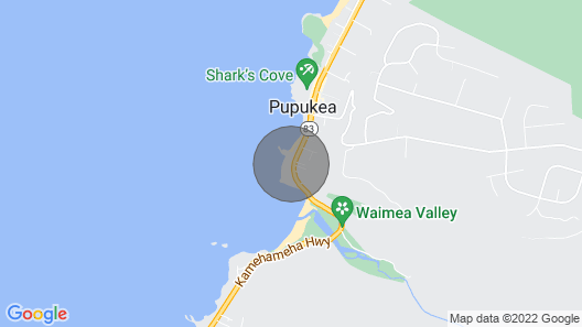 Waimea Bay Point Cottage  (with Air Conditioning) Map